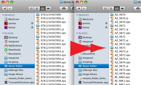 screen grab showing files before and after name changes