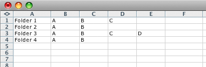 screen grab of basic csv file