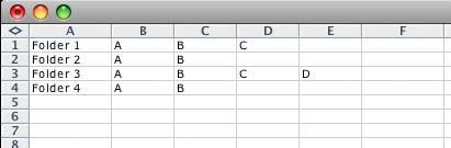 screen grab of basic csv file