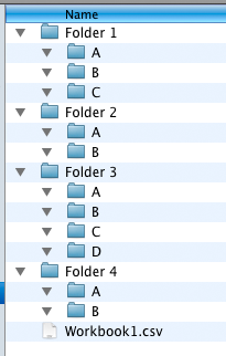 screen grab of first folder structure