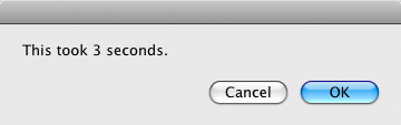 screen grab of 3 seconds dialog box