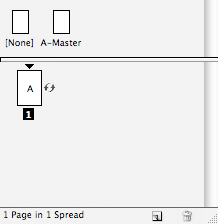 screen grab of pages panel showing rotation icon