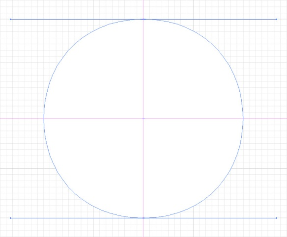 screen grab of 2-point circular path
