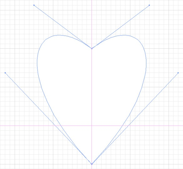 screen grab of heart shaped path