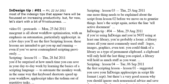 screen grab show page of text and first paragraph styled