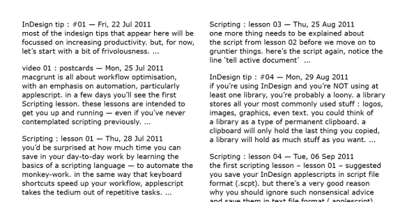 screen grab showing all text styled to paragraph style only