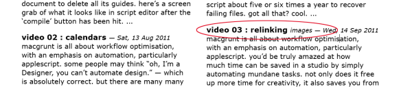 screen grab showing problem paragraph