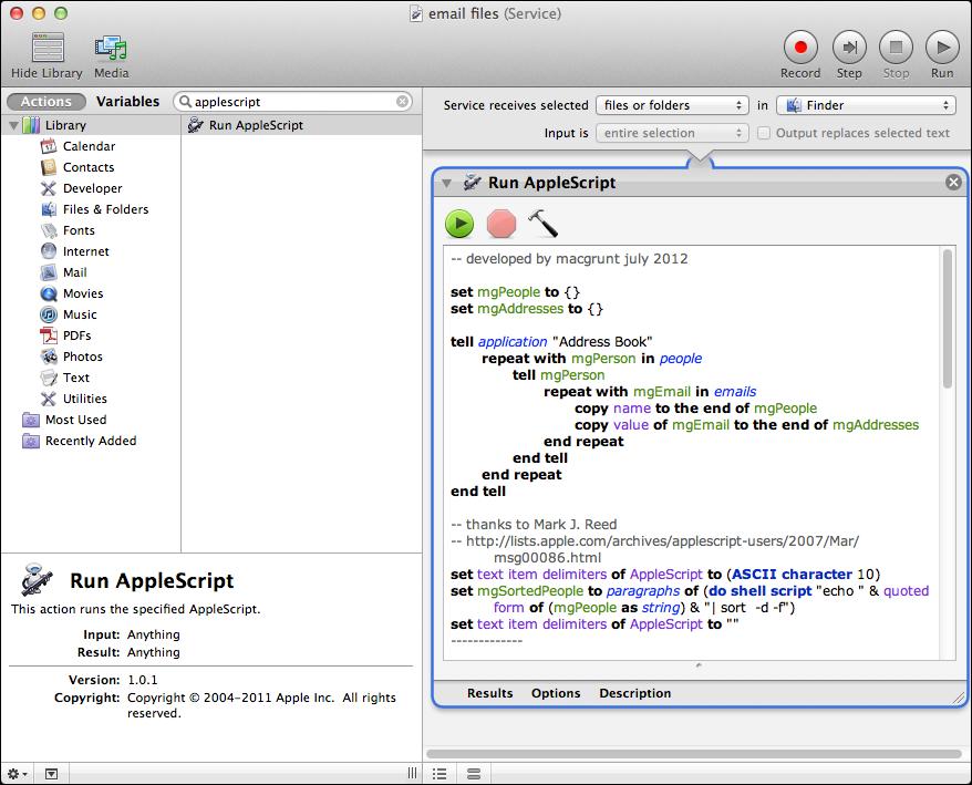 turn an applescript into a service | macgrunt
