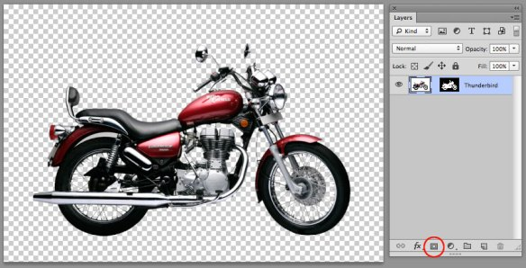 screen grab of masked photoshop file