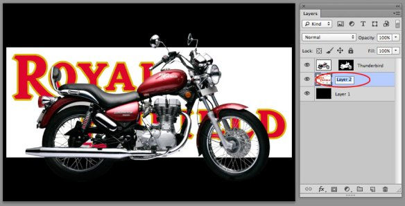 screen grab showing new art in the centre of the working file
