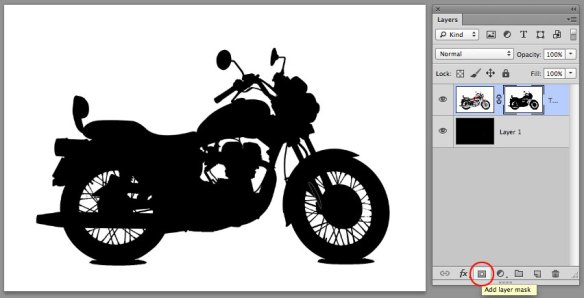 screen grab showing initial application of layer mask