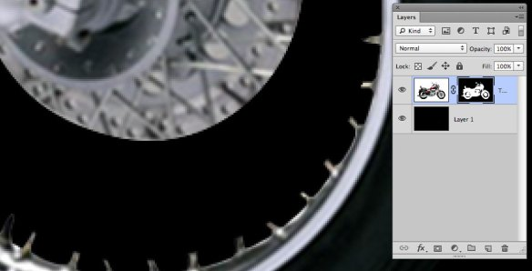 screen grab showing closeup of cleaned up spokes area