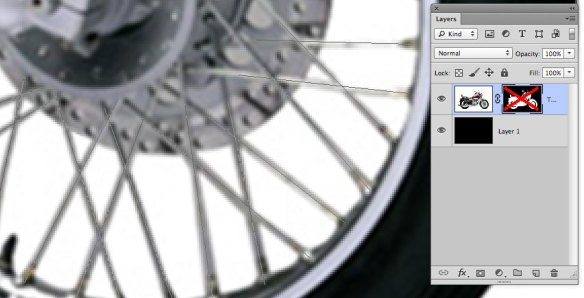 screen grab showing closeup of spokes area with mask disabled