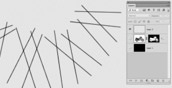 screen grab showing closeup of spokes area showing new lines