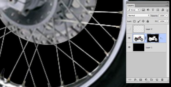 screen grab showing closeup of spokes area showing new masked spokes