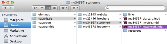 screen grab showing indesign file in folder hierarchy