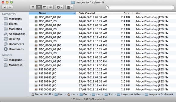 screen grab of folder of images with diabolical file names