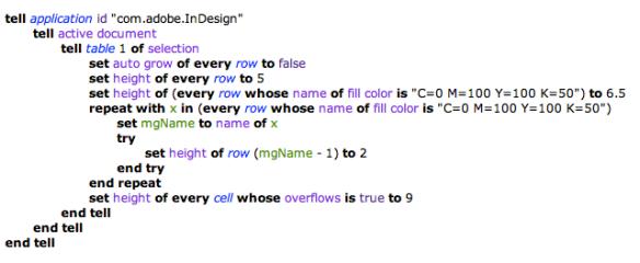 screen grab of compiled script