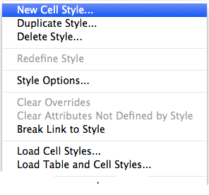 screen grab of cell styles panel flyout menu