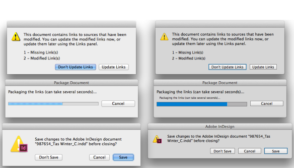 dialogs comparison between CS6 and CC