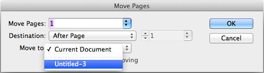 Move Pages dialog