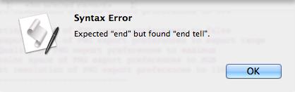 end error 01